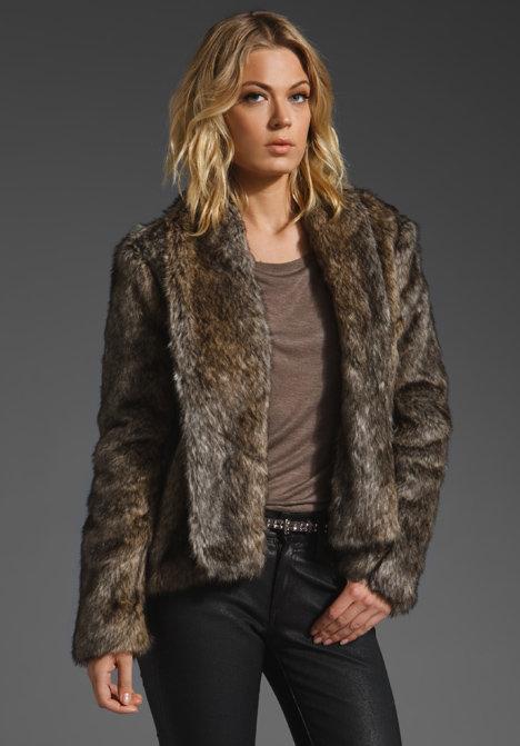 BB Dakota Braden Faux Fur Jacket