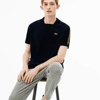 Lacoste Men's LIVE Slim Fit Contrast Bands Velour Polo