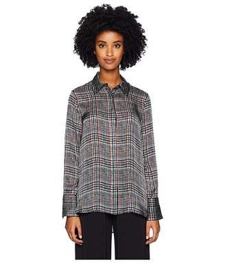 ADAM by Adam Lippes Printed Satin Chiffon Menswear Shirt