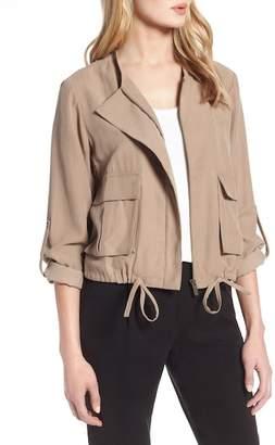 Halogen Twill Zip Front Jacket (Regular & Petite)
