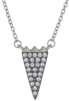 Freida Rothman Rhodium Vermeil CZ Pave Arrow Necklace