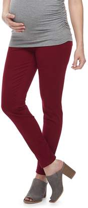 A Glow Maternity a:glow Full Belly Panel Sateen Skinny Pants