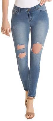 Anthony Logistics For Men La La Slim-Fit Destressed Mid-Rise Jeans