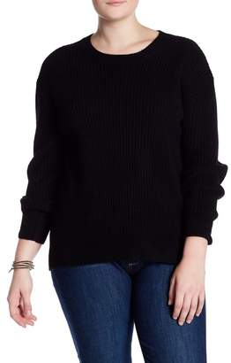 Naked Cashmere Olive Ribbed Cashmere Sweater (Plus Size)