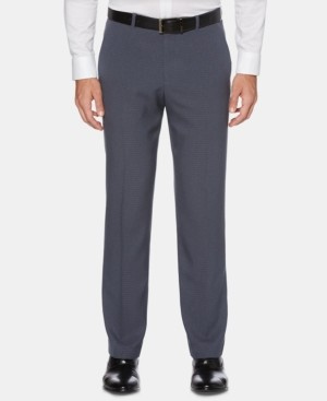 Perry Ellis Men's Portfolio Modern-Fit Stretch Moisture-Wicking Non-Iron Check Dress Pants
