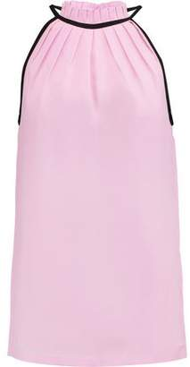 Raoul Jackie Pleated Crepe De Chine Top