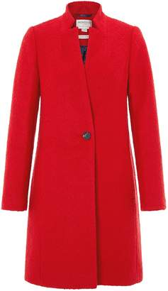 Next Womens Monsoon Red Jenny Bouclé Coat