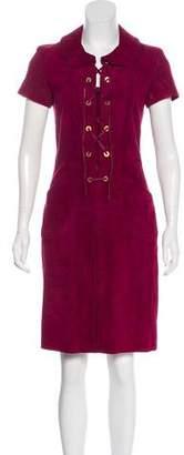 Louis Vuitton Suede Sheath Dress