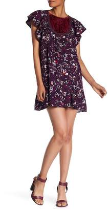 Anna Sui Fairy Fields Crepe Dress