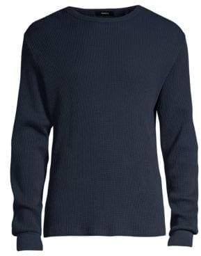 Theory Organic Waffle Long-Sleeve Sweater
