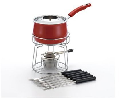 Rachael Ray 2-qt. Stainless Steel II Fondue Set, Red