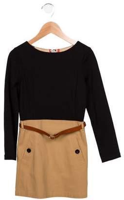 ecc62eff047 Burberry Girls  Long Sleeve Knit Dress