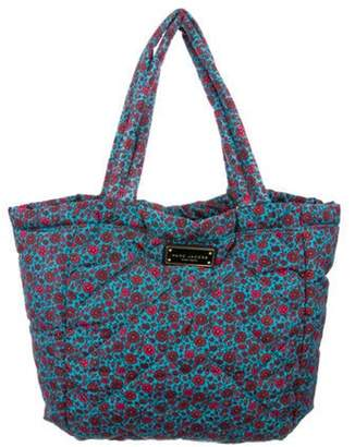 Marc Jacobs Quilted Nylon Floral Tote Aqua Quilted Nylon Floral Tote