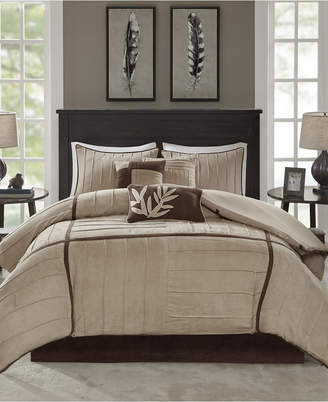 Dune Madison Park 7-Pc. Faux-Suede California King Comforter Set Bedding
