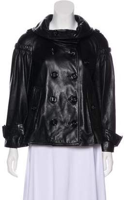 Burberry Leather Swing Jacket