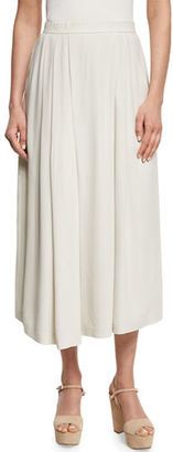 Eileen Fisher Wide-Leg Pleated Silk Ankle Pants $288 thestylecure.com