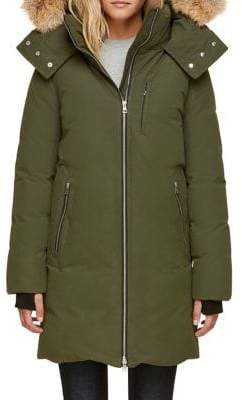 Soia & Kyo Quilted Zoelane Jacket with Fur Trim Hood
