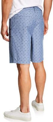 Original Penguin Men's Straight-Fit Squiggle Shorts