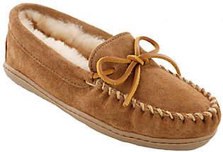 Minnetonka Leather Moccasin Slippers - Sheepski