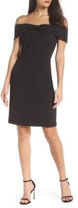 Adelyn Rae Gail Off the Shoulder Sheath Dress