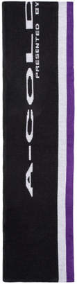 A-Cold-Wall* Purple and Black Oversized Logo Scarf