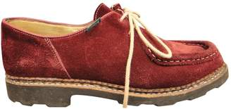 Paraboot Burgundy Suede Lace ups