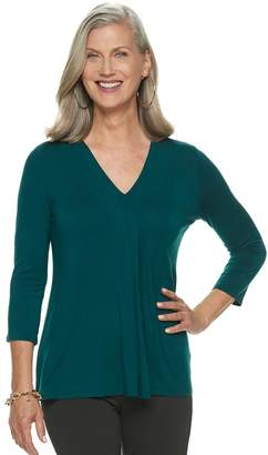 Dana Buchman Women's Release-Pleat Top