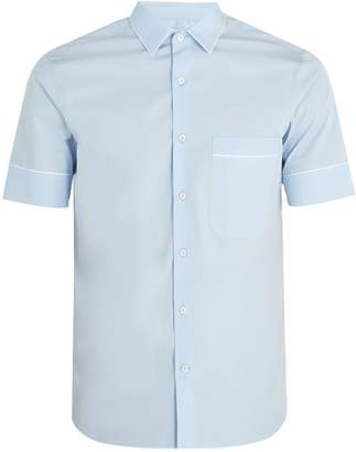 Valentino Contrast-piping cotton-poplin shirt