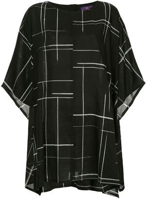 Y's lines print oversized T-shirt