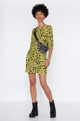 Nasty Gal Start From Scratch Cheetah Dress