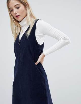 0c6749f1439 Noisy May corduroy mini pinafore dress in navy