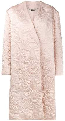 Alexander McQueen butterfly embroidered cocoon coat