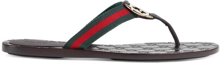 Web strap thong sandal