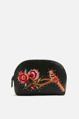 Topshop Bird Embroidered Makeup Bag