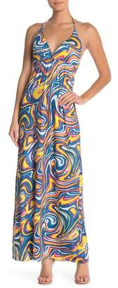 Couture Simply Halter Printed Maxi Sundress