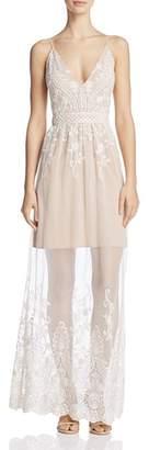 WAYF Clara Illusion Mesh Maxi Dress