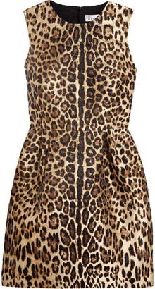 REDValentino - Leopard Lamé-jacquard Mini Dress - Leopard print $750 thestylecure.com