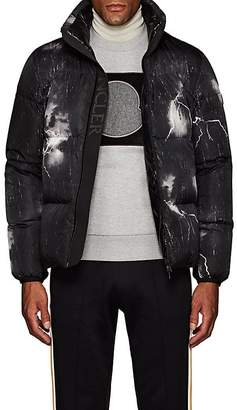 Moncler Men's Lightning-Print Down Puffer Jacket
