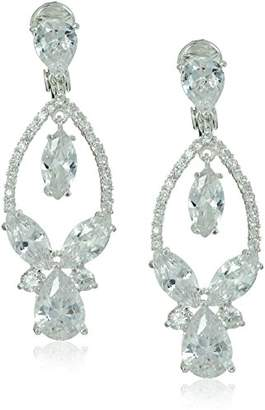 Anne Klein Tone Cubic Zirconia Clip Orbital Drop Clip-On Earrings