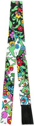La DoubleJ printed skinny scarf