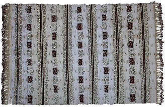 One Kings Lane Vintage Moroccan Wedding Blanket with Diamonds - The Moroccan Room