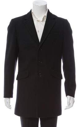Valentino Notch-Lapel Three-Button Overcoat w/ Tags