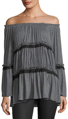 Lumie Tiered Off-the-Shoulder Tunic