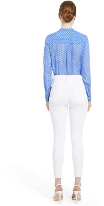 Alice + Olivia AMOS MOCK NECK BLOUSE