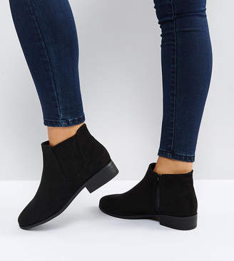 New Look Wide Fit Suedette Ankle Boot
