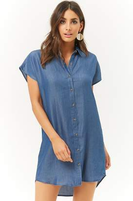 Forever 21 Chambray High-Low Shirt Dress