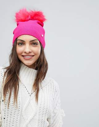 Ted Baker Double Pom Pom Hat