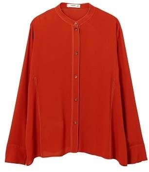 MANGO Contrast seam blouse