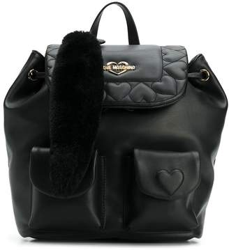 Love Moschino quilted hearts backpack
