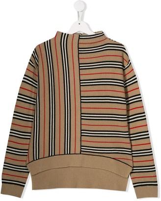 Burberry striped knit jumper